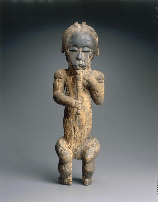 Statue d'ancêtre gardien de reliquaire Fang 19ès