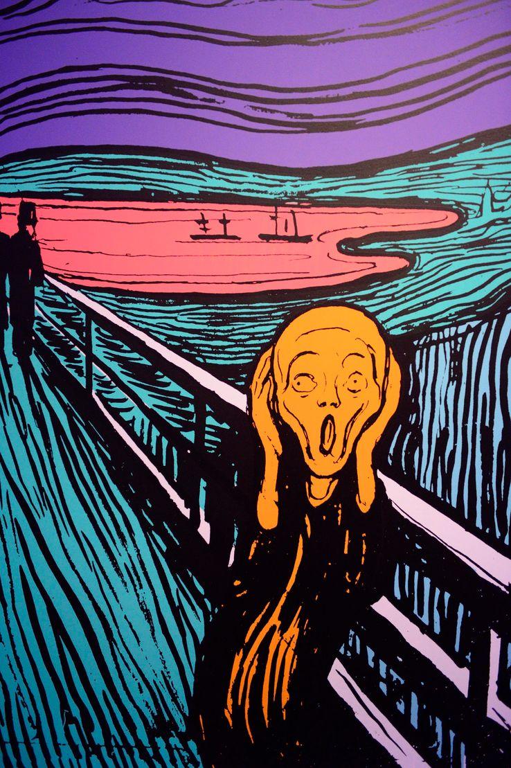 The Screaming (Edvard Munch), screenprint of Andy Warhol, 1984