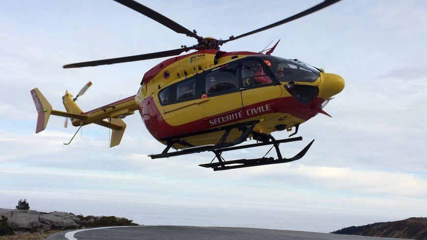 L'hélicoptère de la sécurité civile (photo d'illustration)