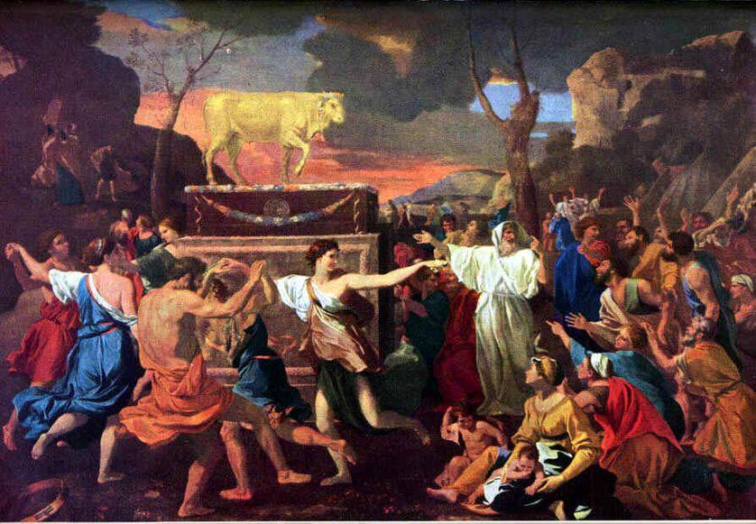 L'adoration du veau d'or, Nicolas Poussin