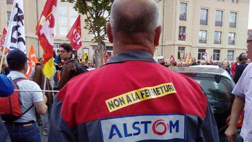 Manifestation des ouvriers d'Alstom contre la fermeture du site Belfortain
