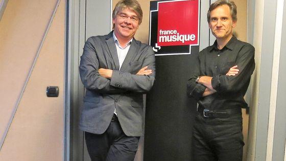 France Musique, studio 152... Le compositeur Eric Tanguy & Philippe Venturini, producteur (de g. à d.)