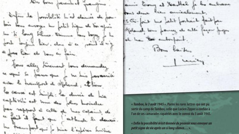 Lettre de Lucien Zipper envoyée de Tambov le 3 août 1945