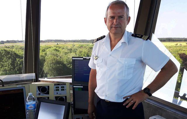 Capitaine de vaisseau Eric Janicot commandant de la base aéronavale de Lann-Bihoue