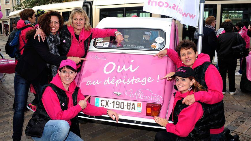 Octobre rose, c'est 1 mois de sensibilisation à l'importance de participer au programme national de dépistage du cancer du sein (illustration)