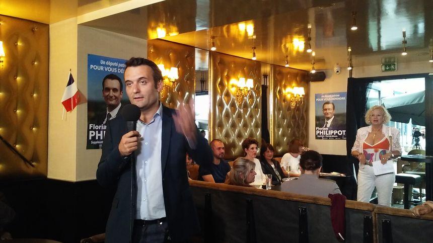 Florian Philippot pendant les élections législatives 2017 à Forbach