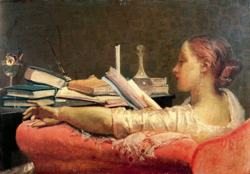 """La liseuse"", par Federico Faruffini, 1864"