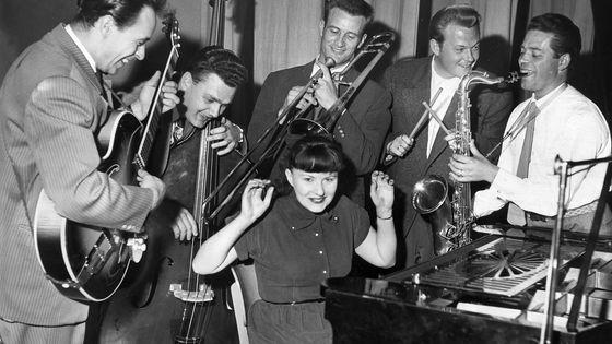Jutta Hipp avec Attila Zoller, Branko Pejakovic, Albert Mangelsdorff, Karl Sanner, Joki Freund en 1956