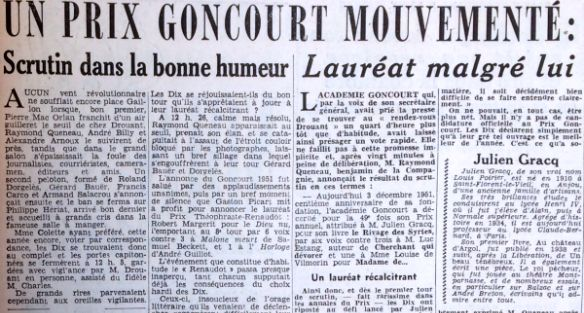 """""""Le Parisien"""" du 4 décembre 1951."""