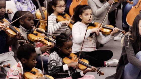 Stage de rentrée de l'orchestre Démos de Paris, 2016 © Jef Rabillon - Philharmonie de Paris