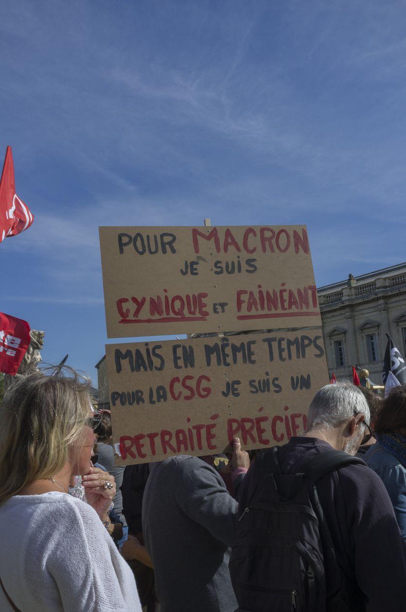 Manifestation à Montpellier