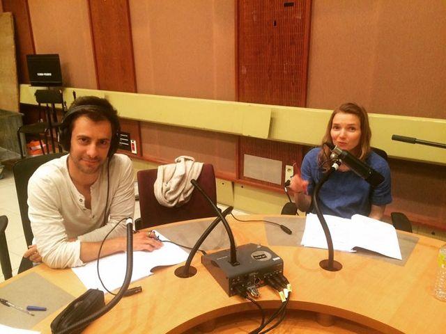 Le réalisateur Cédric Aussir et Sophie Quinton, comédienne, qui interprète ici Tania.