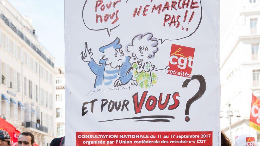 Les retraités étaient déjà présents dans les manifestations du 12 septembre à Marseille, contre la réforme du travail.