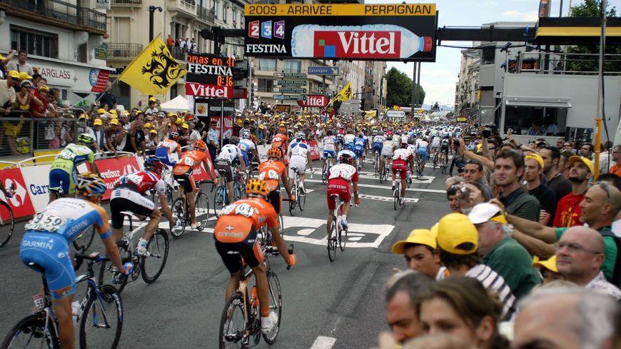 L'arrivée du Tour de France à Perpignan, en 2009