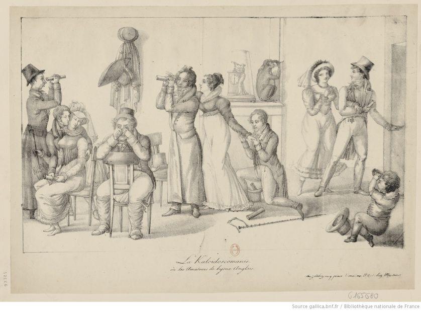 La Kaloïdoscomanie ou les amateurs de bijoux anglais, estampe, circa 1820