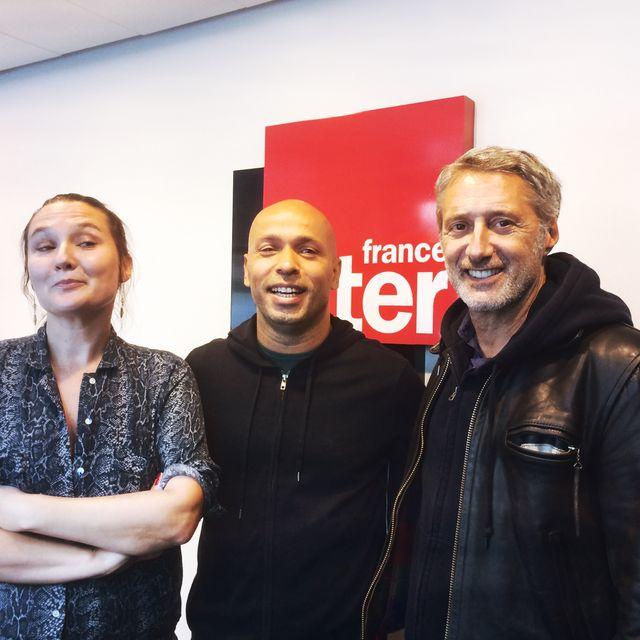 Charline Roux, eric judor et Antoine de Caunes