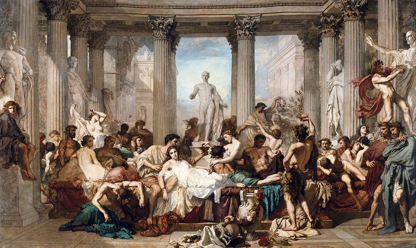Les Romains de la décadence - Thomas Couture (1847)