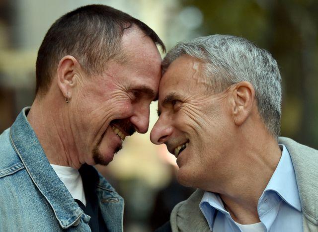 """A Berlin, Bodo Mende et Karl Kreile, l'un des premiers couples """"pacsés"""" se marieront les premiers dimanche"""