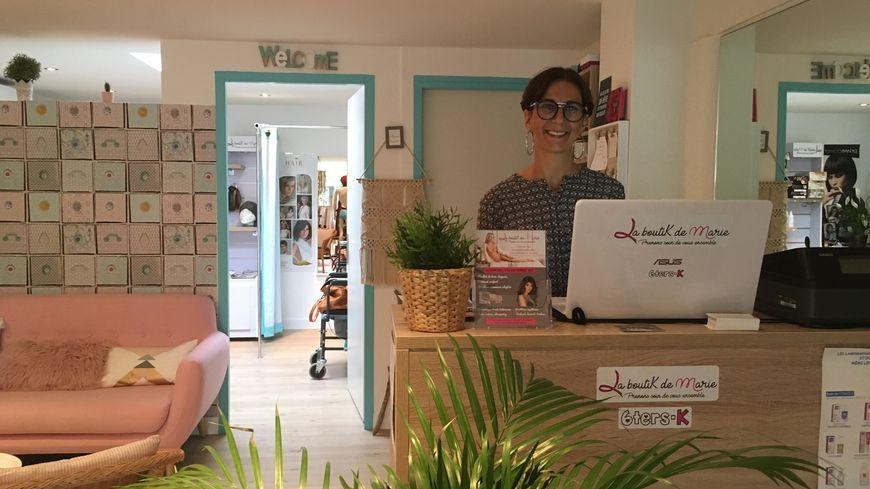 Marie Bélot, 42 ans, vient d'ouvrir sa boutique spécialisée autour du cancer à Montpellier.