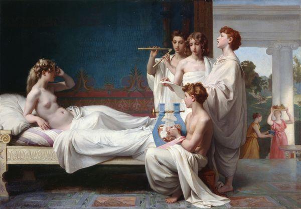 Le Réveil de Psyché, 1867, de Nicolas-Adolphe Weber (Boulay, 1842 – après 1886), Huile sur toile, Orléans, musée des Beaux-Arts