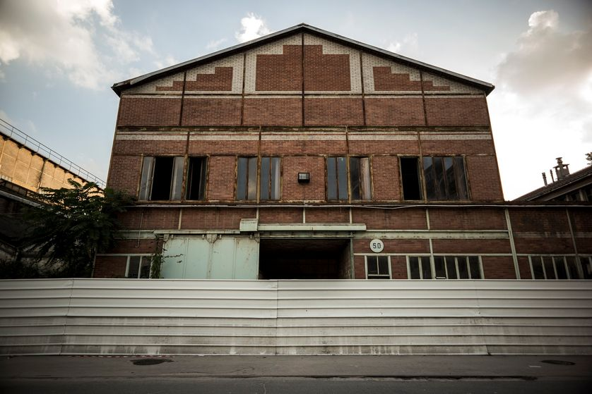 La Courneuve, architecture industrielle, 2016.