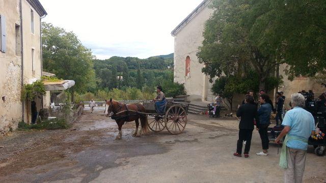 Mirmande transformé en village d'avant 1900