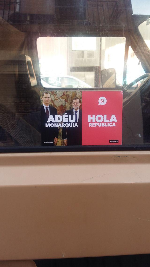 Tract pour le référendum de la Catalogne