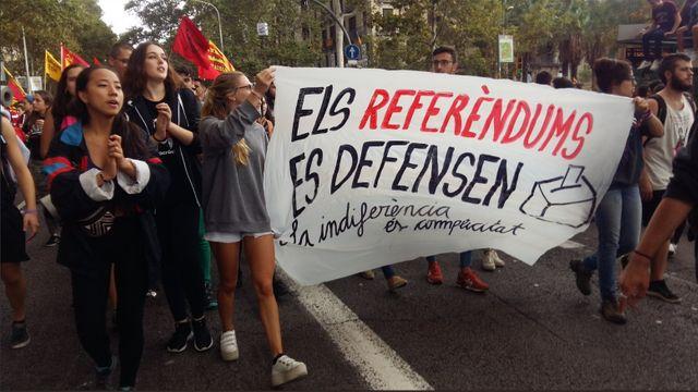 Manifestation étudiante à Barcelone