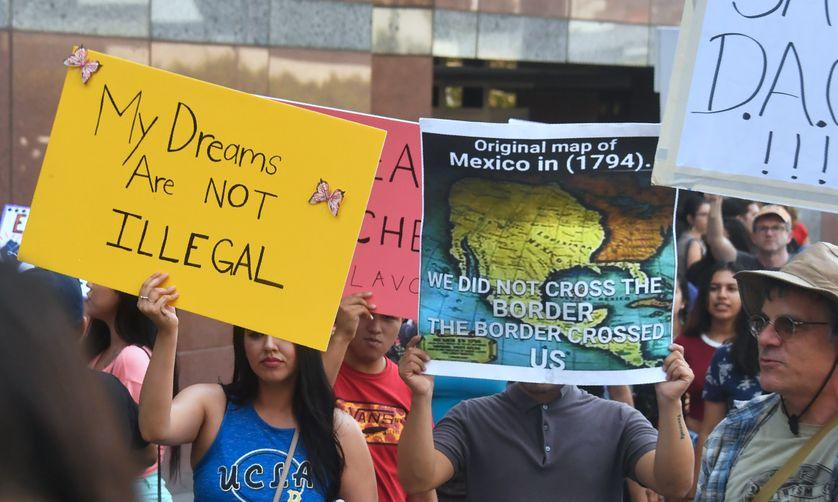 Manifestation à Los Angeles, en Californie