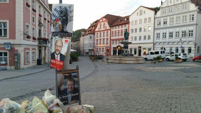 Affiches de campagne à Eichstatt en Bavière