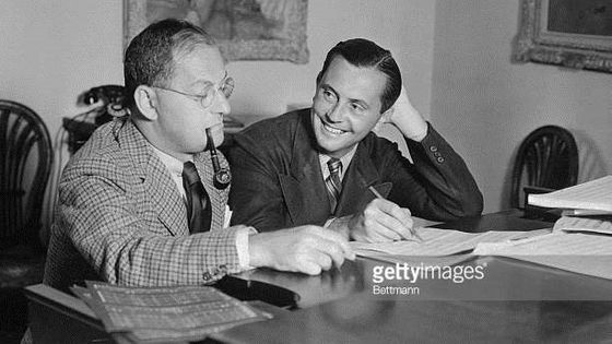 Ira Gershwin and Vernon Duke writing