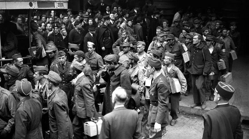 Retour de Malgré-Nous en 1945