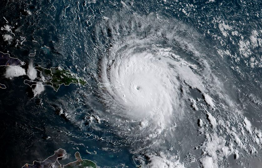 Image satellite de l'ouragan Irma (National Oceanic and Atmospheric Administration, 06/09/17)