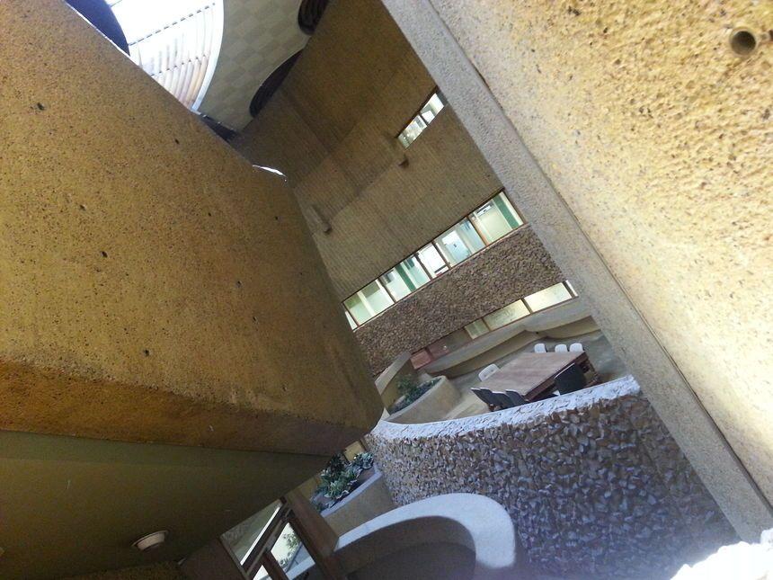 l'intérieur du bâtiment, avant le début de la rénovation