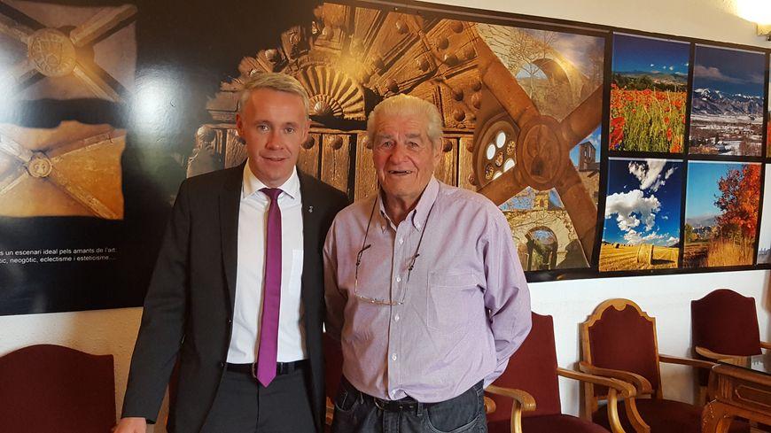 le maire de Puigcerda Albert Pineira et son adjoint Domingo Mora