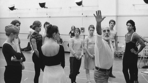 Jerome Robins choreographing 'The Concert' on November 6, 1974