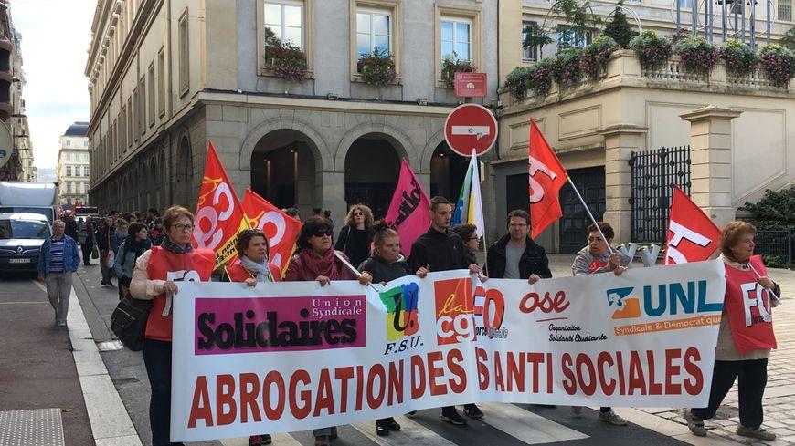 3000 personnes dans les rues de Saint-Étienne pour la première manif contre les ordonnances.