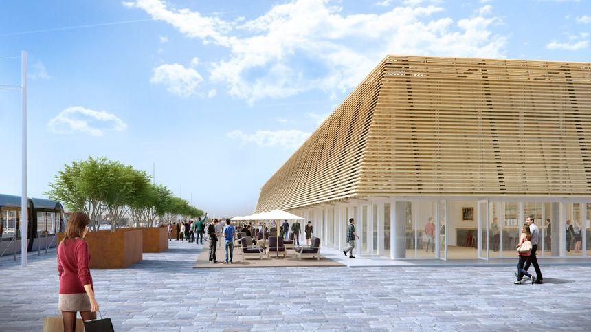 La Halle offrira 1700m² d'espace ouvert au public