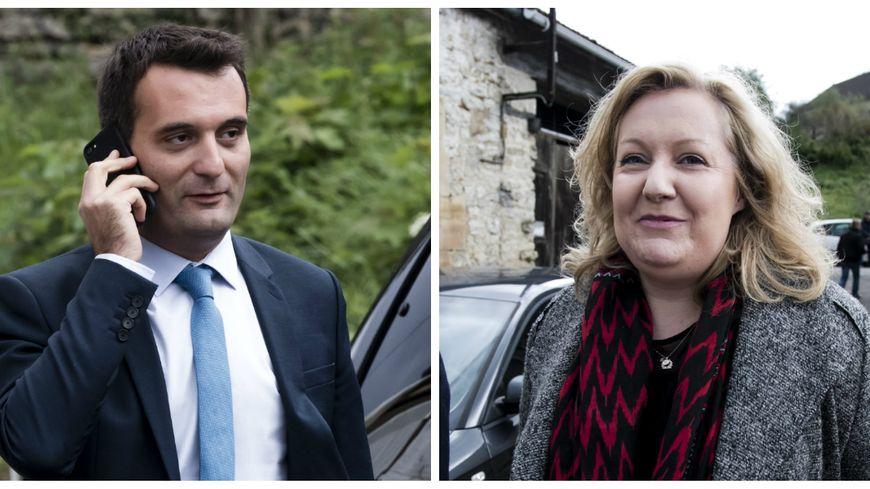 Florian Philippot et Sophie Montel quittent le FN