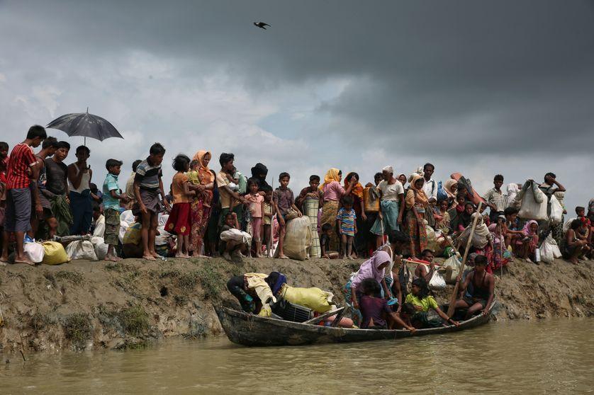 L'exode rohinga vers le Bangladesh, le 7 septembre 2017.