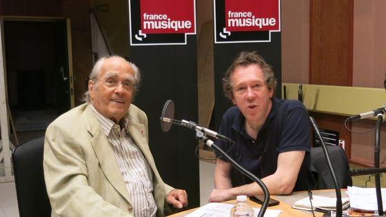 France Musique, studio 119... Michel Legrand & Benoît Duteurtre (de g. à d.)