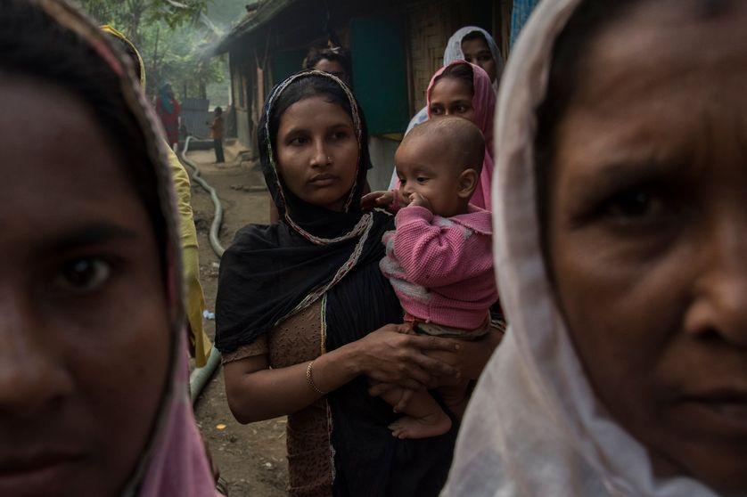 Des femmes rohingyas réfugiées au Bengladesh, février 2017