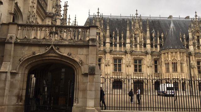 Le palais de justice de Rouen