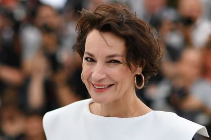 Jeanne Balibar le 18 mai 2017 pendant le photocall pour le film 'Barbara' à la 70ème édition du Festival de Cannes