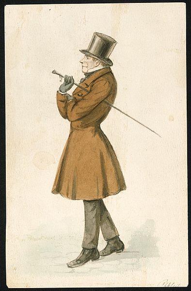 Sören Kierkegaard dessiné par P.C Klæstrup