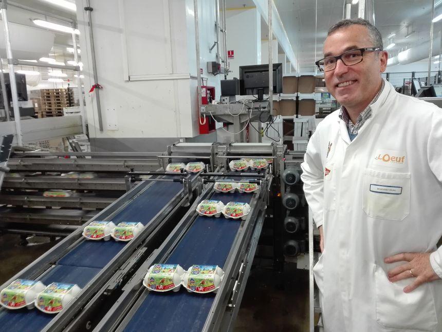 Bruno Mousset, le directeur du centre de conditionnement des œufs de Loué