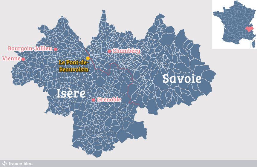 Le Pont-de-Beauvoisin, à la frontière entre Isère et Savoie