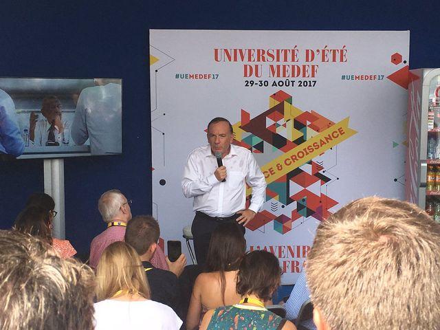 Pierre Gattaz, durant l'Université d'été du Medef.