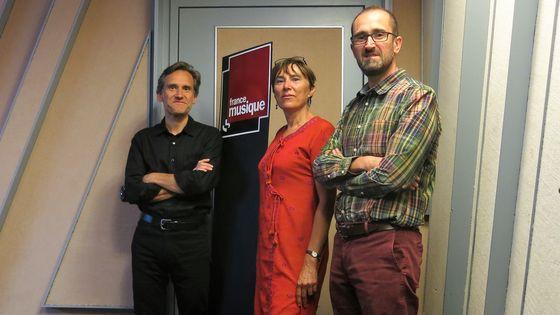 """France Musique, studio 152... Philippe Venturini & Sabine Teulon Lardic, Jean-Christophe Branger """"Provence et Languedoc à l'opéra en France au XIXe siècle"""" (de g.à d.)"""