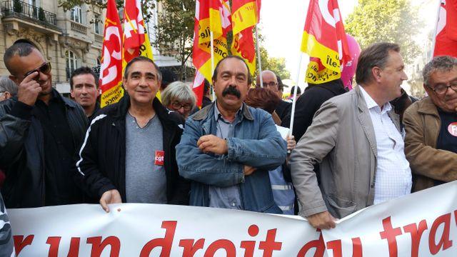 Philippe Martinez, secrétaire général de la CGT, à la manifestation contre la réforme du code du travail à Paris, le 21 septembre.